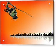 M I - 24 Hind Russian Attack Helicopter Acrylic Print