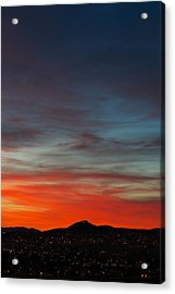 M On Fire  Acrylic Print by Kevin Bone