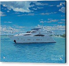 M/y Giga-btye Acrylic Print by Danielle  Perry