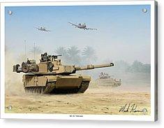 M1a2 Abrams Acrylic Print by Mark Karvon