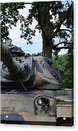 Acrylic Print featuring the photograph M60a3 Us Tank 03 by Ramona Whiteaker