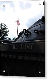 Acrylic Print featuring the photograph M60a3 Us Tank 05 by Ramona Whiteaker