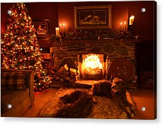 Ma Wee Room At Christmas Acrylic Print by Joak Kerr