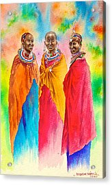 Maasai Life 14 Acrylic Print