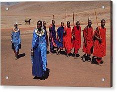 Maasai People Acrylic Print