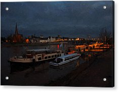 Maastricht Nine Days Before Christmas Acrylic Print by Nop Briex