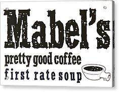 Mabels Cafe Acrylic Print by Jeff Gater