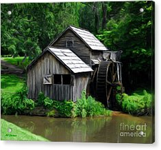 Mabry Mill 4 Acrylic Print by Mel Steinhauer