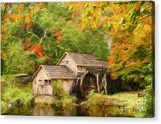 Mabry Mill Autumn Acrylic Print
