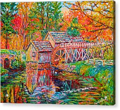 Mabry Mill In Fall Acrylic Print