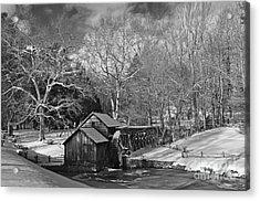 Mabry Mill In Snow Acrylic Print