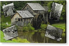 mabry Mill old and new Acrylic Print