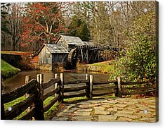 Acrylic Print featuring the photograph Mabry Mill by Suzanne Stout