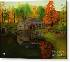 Mabry Mill Acrylic Print by Timothy Smith