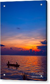 Mabul Island Sunset Borneo Malaysia Acrylic Print by Fototrav Print