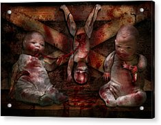 Macabre - Dolls - Having A Friend For Dinner Acrylic Print by Mike Savad