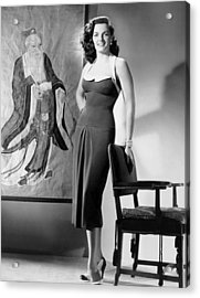 Macao, Jane Russell, In A Dress Acrylic Print by Everett