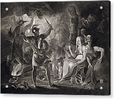 Macbeth, The Three Witches And Hecate Acrylic Print