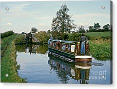 Macclesfield Canal 1975 Acrylic Print by David Davies