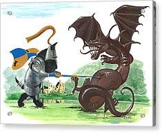 Macduff And The Dragon Acrylic Print by Margaryta Yermolayeva