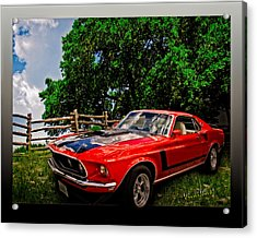 1969 Ford Mach 1 Mustang Acrylic Print