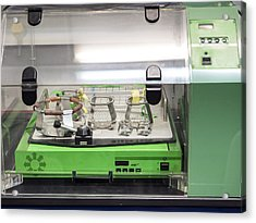 Machine For Removing Liquids, Heating, Incubation In A Laboratory Of Molecular Biology. Spain Acrylic Print by Jose A. Bernat Bacete