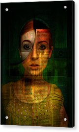 Machine Acrylic Print by Kim Gauge