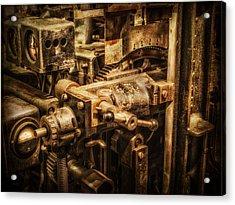 Machine Part Acrylic Print by Dobromir Dobrinov
