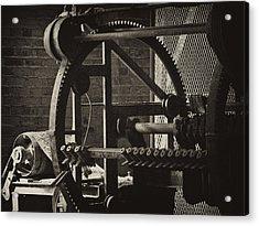 Machines Acrylic Print by Ann Tracy