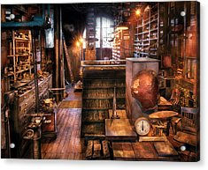 Machinist - Ed's Stock Room Acrylic Print by Mike Savad