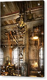 Machinist - In The Age Of Industry Acrylic Print by Mike Savad