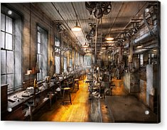 Machinist - Santa's Old Workshop Acrylic Print by Mike Savad