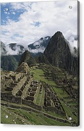 Machu Picchu Acrylic Print by Chris Caldicott