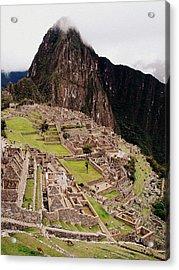 Machu Picchu Acrylic Print by Ramona Johnston