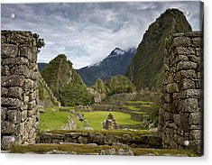 Machu Picchu Through The Roof Acrylic Print