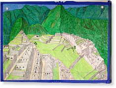 Machu Picchu Acrylic Print by Yusbel Lopez