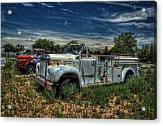 Acrylic Print featuring the photograph Mack Fire Truck by Ken Smith