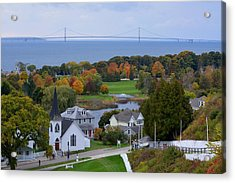 Mackinac Autumn Acrylic Print by Keith Stokes