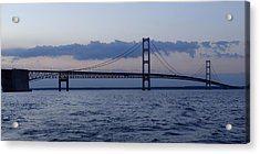 Mackinac Bridge At Eventide Acrylic Print by Keith Stokes