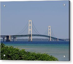 Mackinac Bridge Blue Acrylic Print