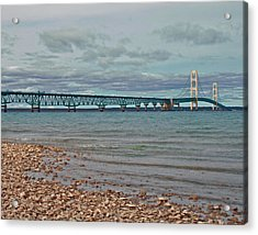 Mackinac Bridge Acrylic Print by Brady D Hebert