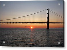 Mackinac Bridge Sunset Acrylic Print