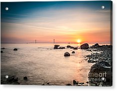 Acrylic Print featuring the photograph Mackinac Sunrise by Larry Carr