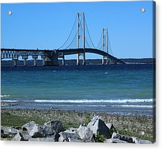 Acrylic Print featuring the photograph Mackinaw Bridge by Bill Woodstock