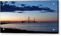 Mackinaw Bridge Twilight Acrylic Print