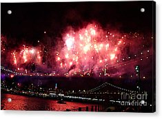 Macy's Spectactual 2014 Fireworks Acrylic Print
