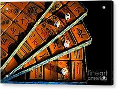 Mad For Mahjong Acrylic Print by Lois Bryan