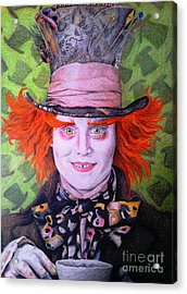 Mad Hatter Acrylic Print by Jessica Zint