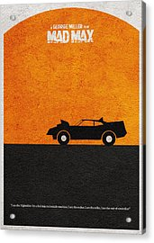 Mad Max Acrylic Print by Ayse Deniz
