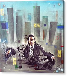 Mad Men Disintegration Of Don Draper Acrylic Print